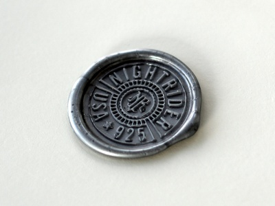 Wax Seal logo icon design circle wax seal emblem minimalist simple