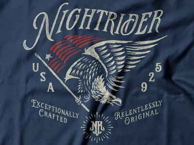 Vintage T-shirt lettering hand drawn typography flag t-shirt americana america eagle vintage design illustration