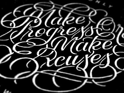 2018 Letterpress Calendar letterpress calendar handles bezier vector swash script lettering custom hand drawn typography