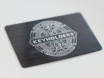 Keyholders metal logo line work key stairs occult vector simple minimalist emblem icon