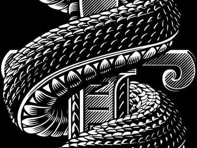 Snake Scales sword scales snake vector line work design illustration