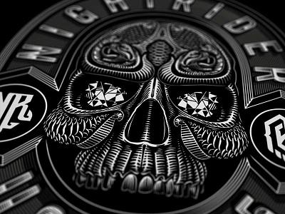 T-shirt art from 2017 jewels mc motorcycle snake skull vector woodcut line work illustration