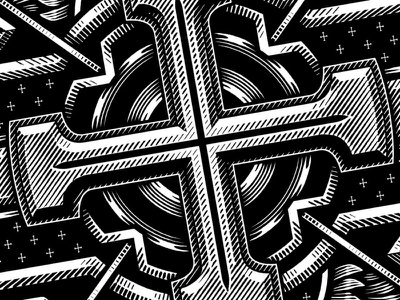 Linework etching woodcut hand drawn black and white vector detail line work illustration design