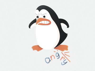 Penguin sticker №2 🐧🔥 (angry)   Day 2 texture sticker show penguin logo illustrator illustraion ice destruction destroyed angry grin emotion design cold character branding animals animal 2020