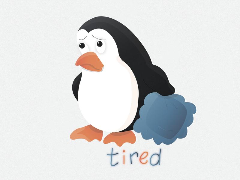 Penguin sticker №4 🐧🔥 (tired)