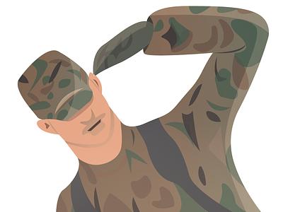 Respect Soldier 👍 (area 51) zone 51 soldier respect war sticker logo grand theft auto samp emotion illustration illustrator 2020 game design drawing design character cartoon