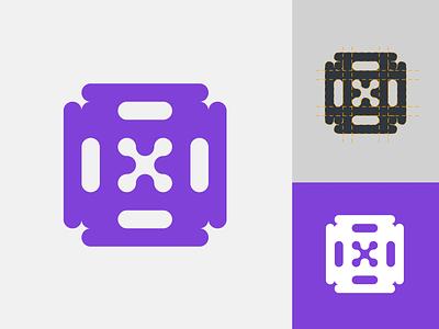 Valve box   Logo design mark type purple symbol simple icon logotype valve box brand app typography vector ui branding logo illustration illustrator design 2020