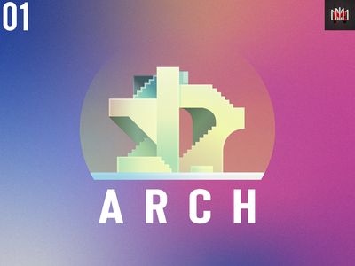 Logo   Architecture 🔥 gradient dribbble new adobe illustrator logotype simple logo shine minimal web app icon ui architecture simple branding logo illustration illustrator design 2020