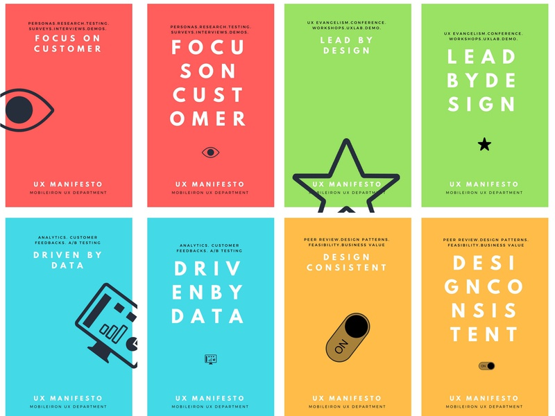 Design Posters / UX Manifesto lead by design driven by data design consistent focus on customer manifesto ux design
