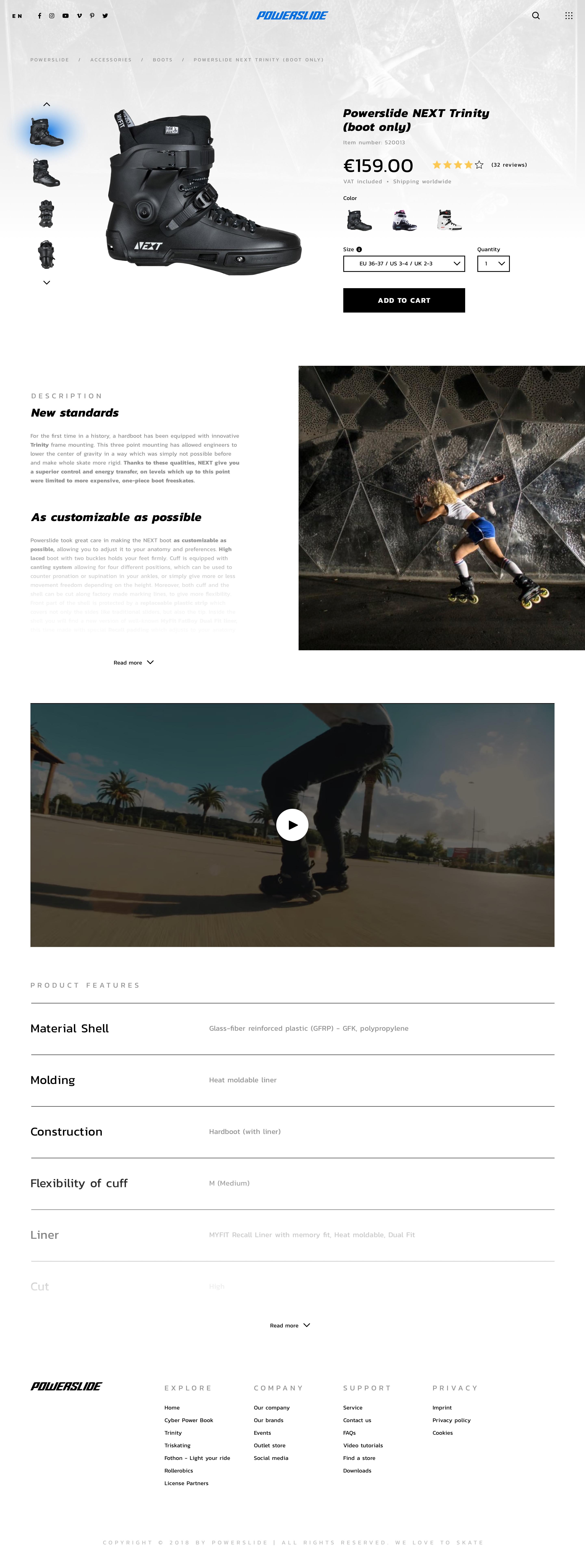 Powerslide concept product details light