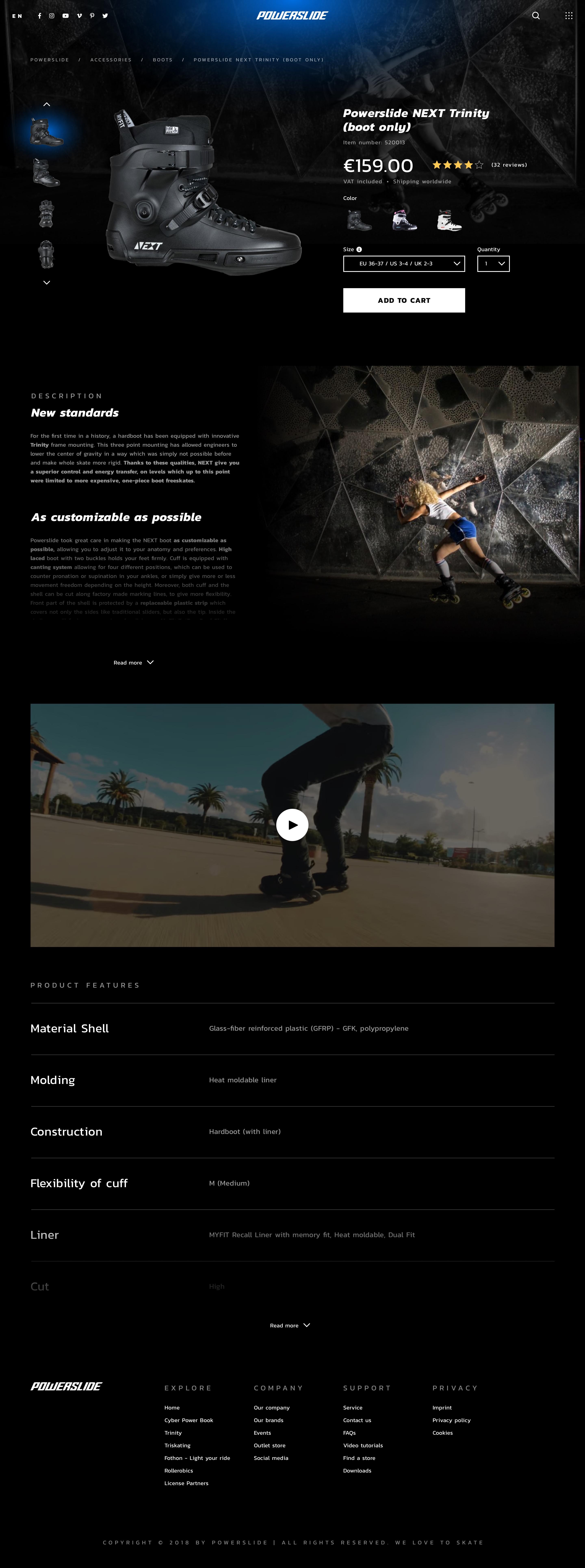 Powerslide concept product details dark