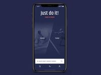 Sport Tutorials App Concept
