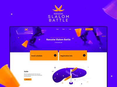 Rzeszow Slalom Battle Dribbble colors website landing isometric sports sport webdesign branding logo illustration ux design ui