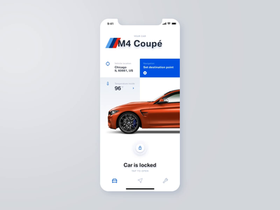 BMW Connected App Concept | Animation app motion vehicle tesla thermometer temperature air condition mercedes location control remote car automotive volkswagen audi bmw mobile animation interaction 7ninjas