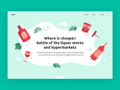 Liquor Stores texture sketch webflow web web design website illustration initial screen article lyme alcohol glass whiskey corkscrew bottle market liquor store wine