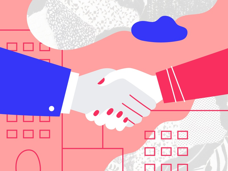 Deal rights business fingers vector design illustration texture agree agreement deal apartment house mortgage handshake shake arm man woman hand contract