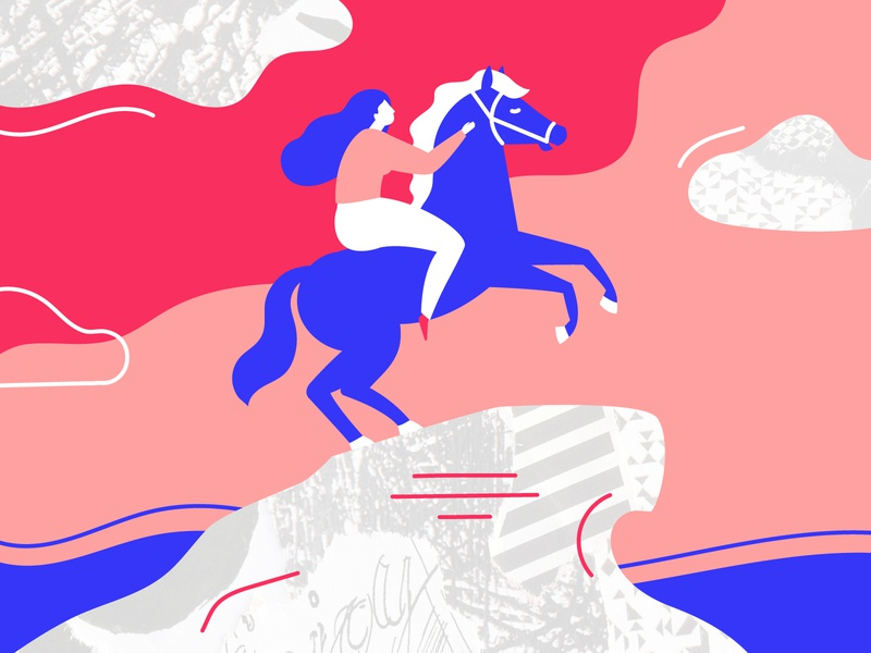 St. Petersburg Feminism rider horseman lines power clouds st. petersburg petersburg peter 1 feminist feminism woman female girl 8 march memorial monument horse texture illustration
