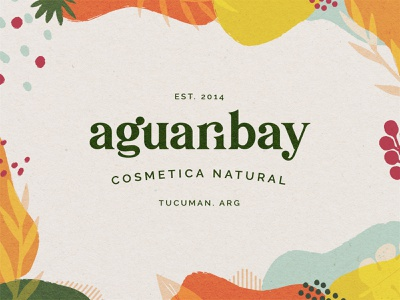 Aguaribay Natural Cosmetics botanical identity design brand design cosmetic logo apothecary natural illustration app ux ui design