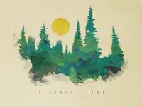 Watercolor Treeline