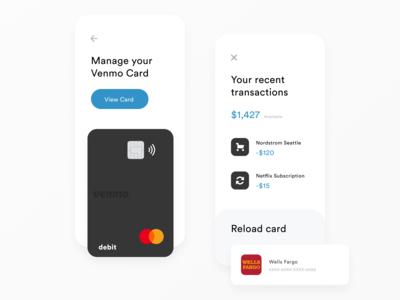 Venmo Card Redesign | Finance App