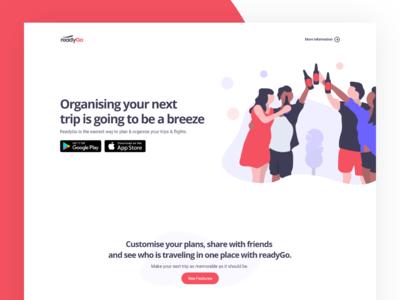 readyGo Landing Page Design