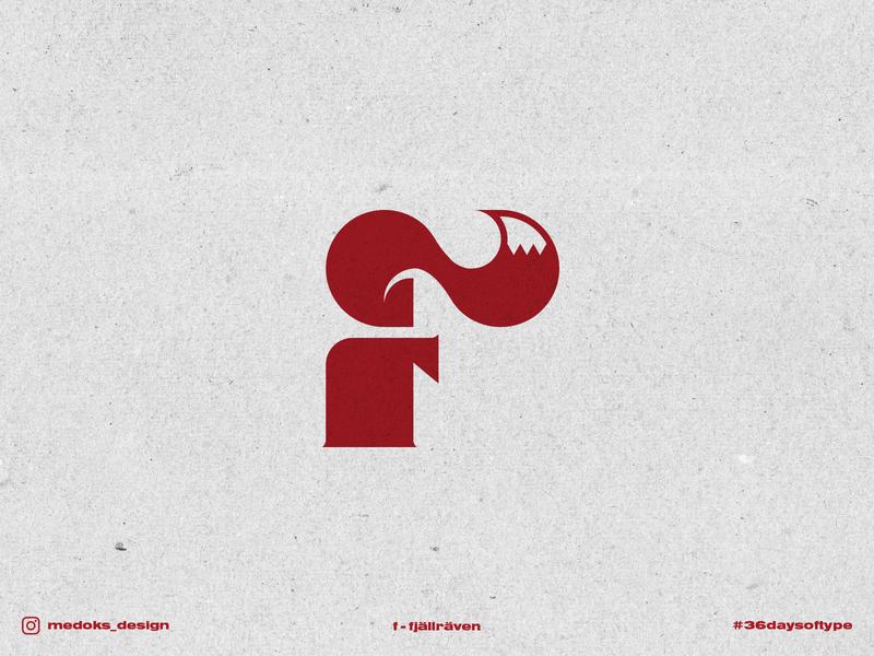 36 Days of Type - F logotype fox logo design branding lettering logodesign logo typography logo typography 36daysoftype fjällräven