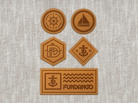 Leather badges