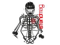 Biker's skeleton