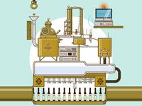 Brandy distiller machine
