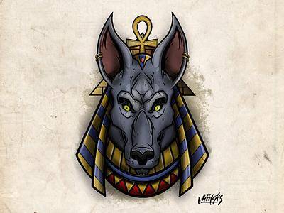 Anubis illustration ipad dog tattoo neotraditional pyramid gods pharaoh egypt illustration anubis