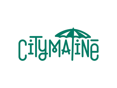 Citymatiné logo sunshine summer event party open air lettering type typography logotype logo