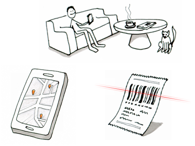 Storyboarding the use of an app sketch storyboard