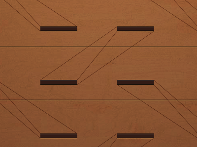 Pen drawers mockup laser cutting and itching wood product geometry