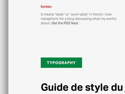 Bureau Sans aktiv grotesque blog minimalism