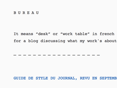 Bureau Courier rwd courier one font blog type writter