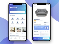 Rentickle app screens