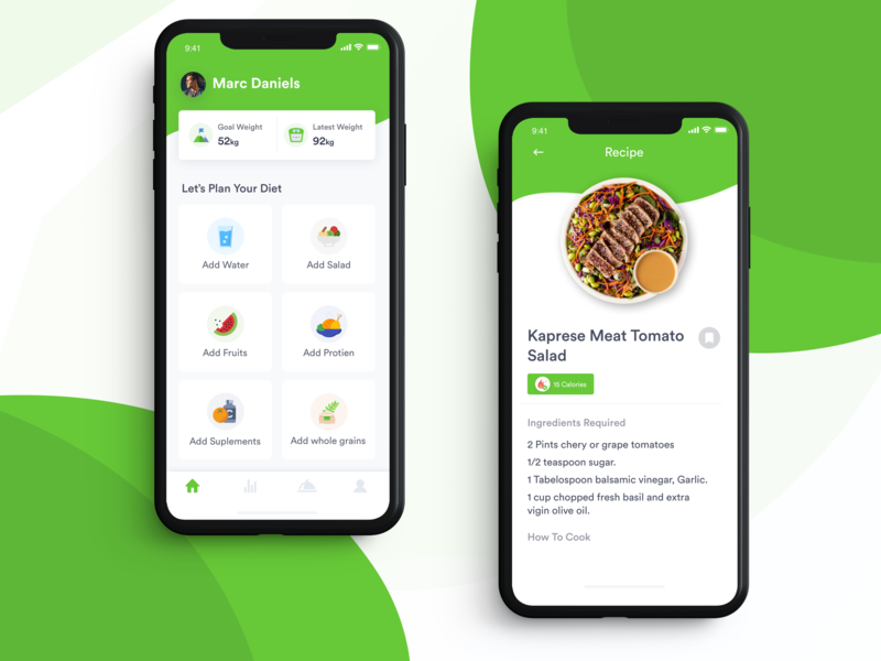 Diet Coach App iphone x diet coach food app nutritious food nutrition diet manager fitness app homepage calories recipes food recipes diet app fitness weight loss diet plan