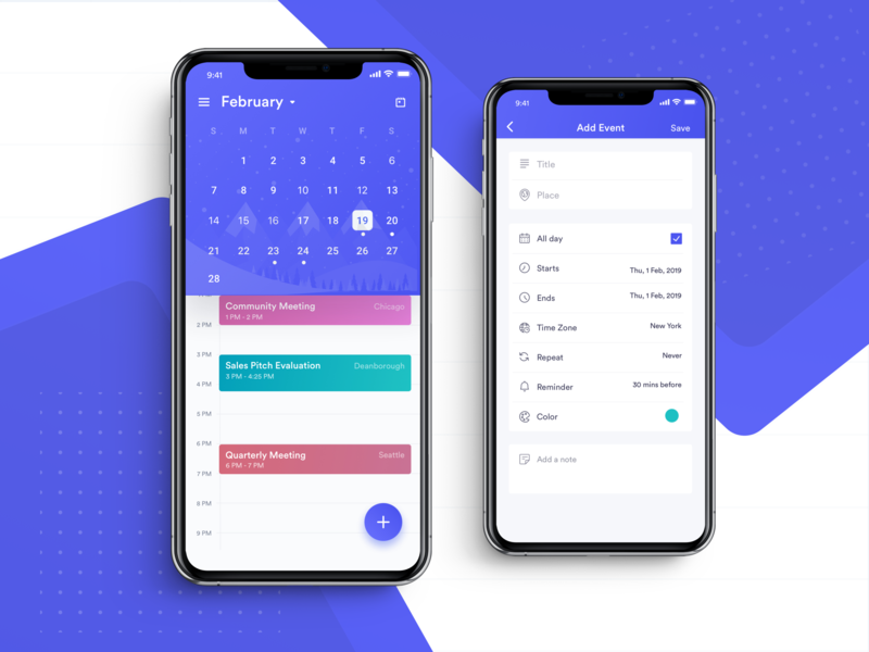 Calzie smart calendar app iphone xr to do list time zone task list task management task app concept add event home page event event app meetings event management calendar design calendar calendar app