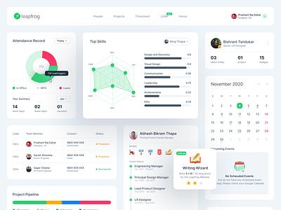 Vyaguta 2.0 - Career Widgets dashboard webdesign ui product design nepal ux design dashboard design ui design erp software design