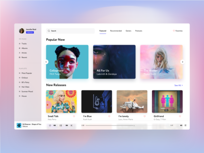 Daily UI 9 - Music Player Design