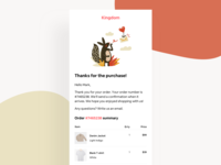 Daily UI 17 - Email Receipt