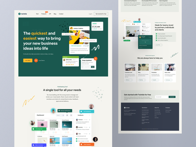 Business Management Tool Web Exploration ❤️🔥 web design saas app saas landing page trending design best design creative design modern design productdesign corporate design saas design landing page design dribbble best shot best shot trending ui popular design website design webdesign