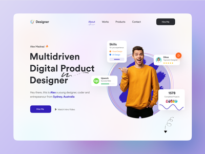 Header UI Exploration ❤️🔥 best logo best design popular shot design popular design landing page design web app typography modern design creative design ios android interface popular trending graphics minimal clean new trend dribbble best shot