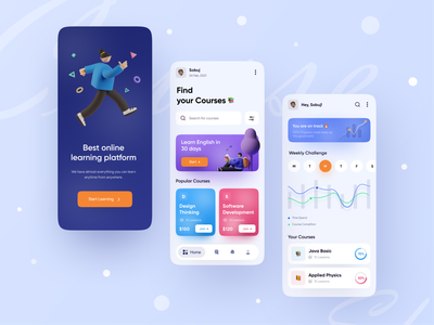 Course App UI Exploration 📚❤️ education app course app ui app design productdesign best shot best design trending ui modern design creative  design popular shot popular design ios android interface creative design popular trending graphics minimal clean new trend dribbble best shot