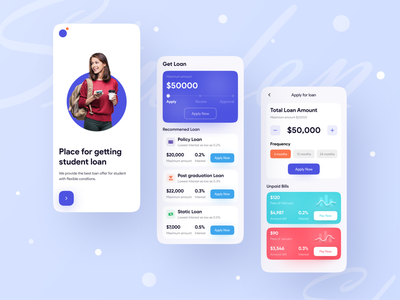 Loan App UI Exploration ❤️ ✅ application app design icon ui web ios guide best shot app designer loan app loan trending popular app design app design creative design popular trending graphics minimal clean new trend dribbble best shot