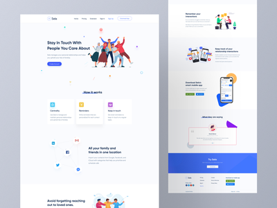 Sela landing page design ❤️ trending ui all web design webdesign popular shot best designer popular design web app typography landing page design modern design ios android interface creative design popular trending graphics minimal clean new trend dribbble best shot