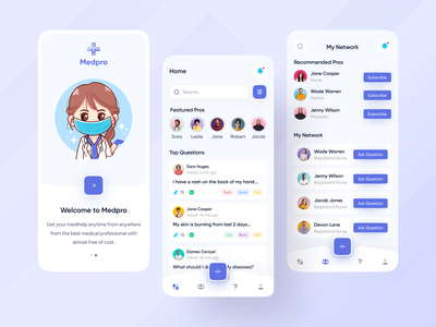 Medi Pro - Medical Help App Exploration 🔥🔥 ios android interface popular trending graphics best shot mobile design modern design creative design user interface design app app design trending ui popular shot popular design web app typography medical app minimal clean new trend dribbble best shot