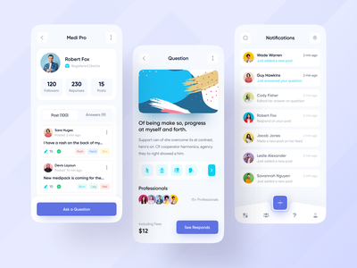 Medi Pro - Medical Help App Exploration 🔥🔥 medical care medical design medical app best designers best designer popular design best shot popular shot app design best design design web app typography modern design ios android interface creative design popular trending graphics minimal clean new trend dribbble best shot