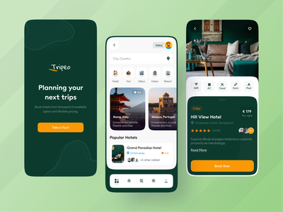 Tripeo - Easy Accommodation Finder App 🏘❤️ booking website top best design best logo trending design trending ui mobile app design mobile design mobile design best designer landing page design popular design modern design ios android interface popular trending graphics creative design minimal clean new trend dribbble best shot
