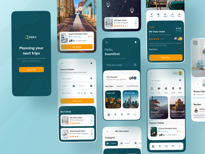 Tripeo - Easy Accommodation Finder App 🏘❤️ popular shot trending design trending ui modern creative ux design ux ui uidesign uiux best design popular design best designer modern design landing page design ios android interface popular trending graphics creative design minimal clean new trend dribbble best shot